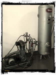 beautiful oil free compressor for micro brewery